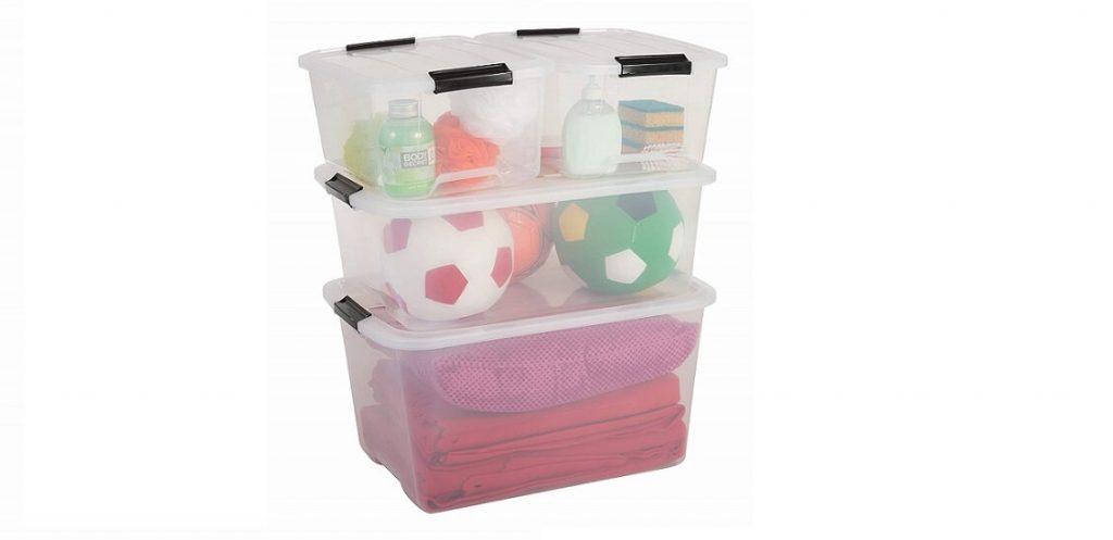 Juego de cajas plásticas transparentes más vendida de Amazon
