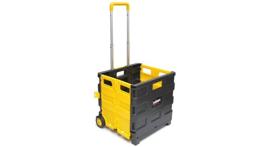 Rolson Tools 68900 Caja plástica organizadora con ruedas