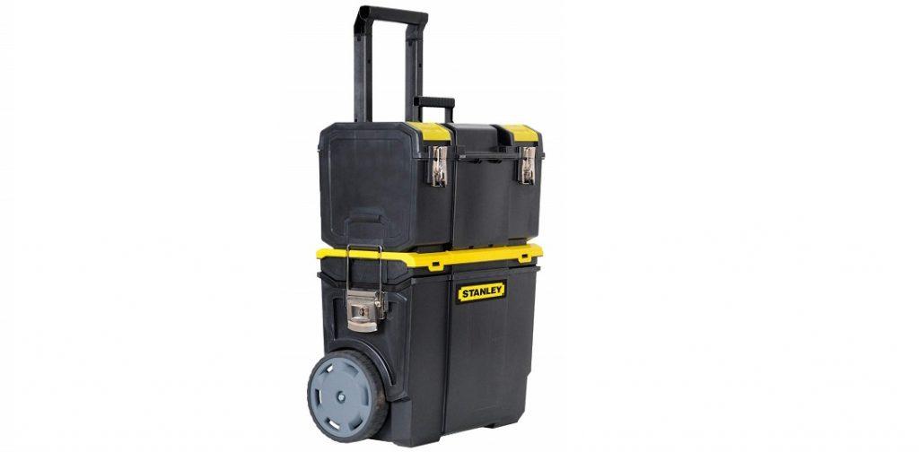 2.  Stanley 1-70-326 Cajón de plástico con ruedas
